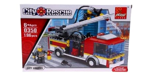 Dětská stavebnice hasičské auto