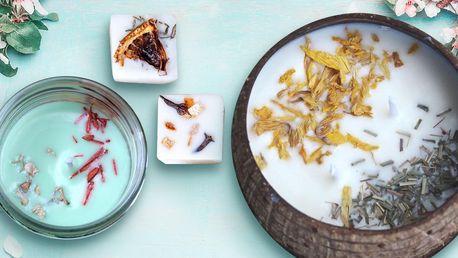 Sójové svíčky a voněnky: levandule, pomeranč i jiné