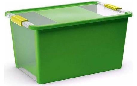 Bi box L 40 litrů kombinace průhledná/zelená barva