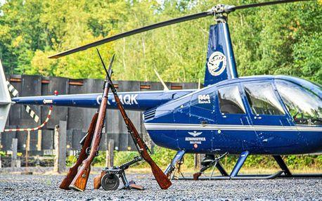 Let vrtulníkem a zážitková střelba pro 3 osoby