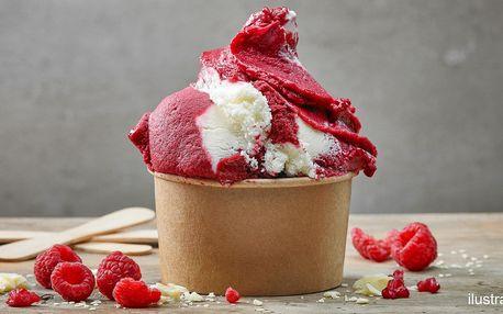 Domácí točená zmrzlina s ovocem a čokoládou