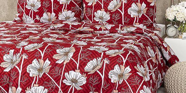 4Home Bavlněné povlečení Luční květina, 140 x 220 cm, 70 x 90 cm