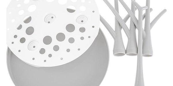 Akuku univerzální sušička odkapávač na láhve a dudlíky stromečky bílá4