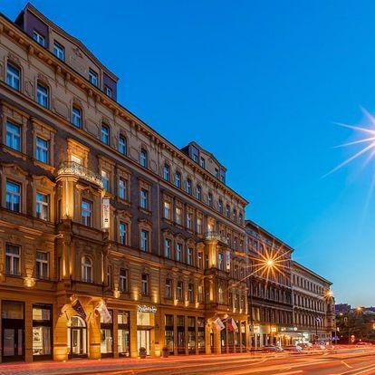 Luxus na nejvyšší úrovni: 5* hotel v centru Prahy se snídaní 4 dny / 3 noci, 2 osoby, snídaně