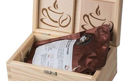 Dárková krabička se zrnkovou kávou: 100% arabica