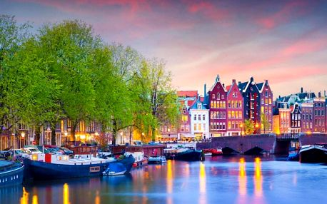 Amsterdam: zážitkový pobyt za akční cenu 4 dny / 3 noci, 2 os., snídaně