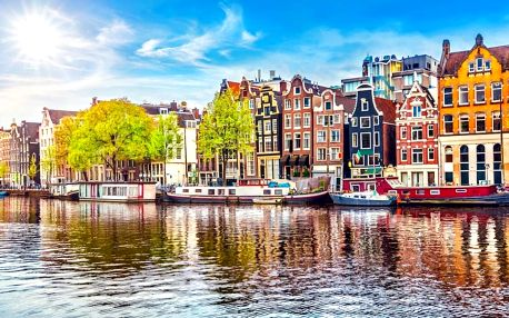 Jedinečný Amsterdam a ubytování v top hotelu 4 dny / 3 noci, 2 osoby, snídaně