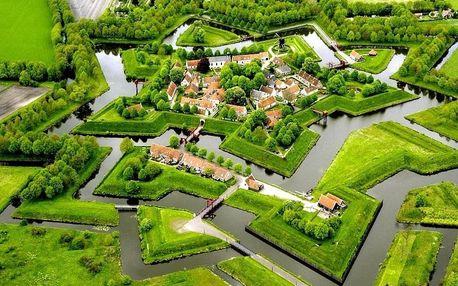 Poznejte Holandsko: větrné mlýny, lány tulipánů a vynikající sýr 4 dny / 3 noci, 2 os., snídaně