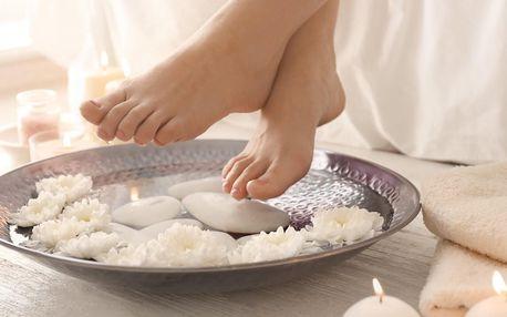 Spa pedikúra pro ženy i muže, možnost gel laku