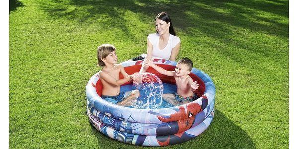 Bestway Nafukovací bazének Spiderman, pr. 122 cm, v. 30 cm2