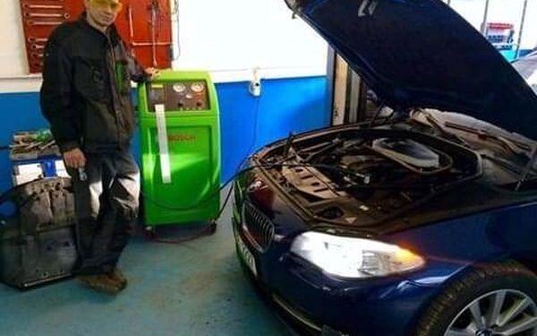 Servis a plnění klimatizace ve voze3