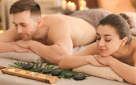 Hodina relaxace pro pár: výběr ze 6 druhů masáží