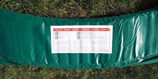 GoodJump 4UPVC zelená trampolína 305 cm s ochrannou sítí + žebřík + krycí plachta4