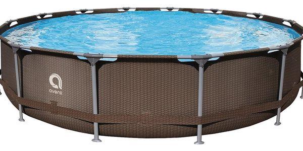 Bazén Steel Super Rattan 427 x 84 cm