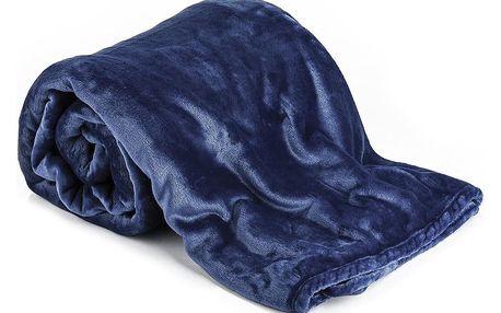 JAHU Deka XXL / Přehoz na postel tmavě modrá, 200 x 220 cm