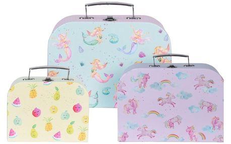 Sada dětských kufrů Girls choice, 3 ks