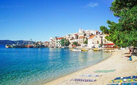 Chorvatsko: Makarská riviéra jen 20 m od moře v apartmánech s autobusovou dopravou RegioJet + polopenze