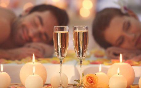 Párová relaxace: 60minutová thajská masáž podle výběru, zábal a sklenka sektu