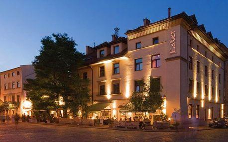 4* hotel Ester v centru čtvrti Kazimierz se snídaní