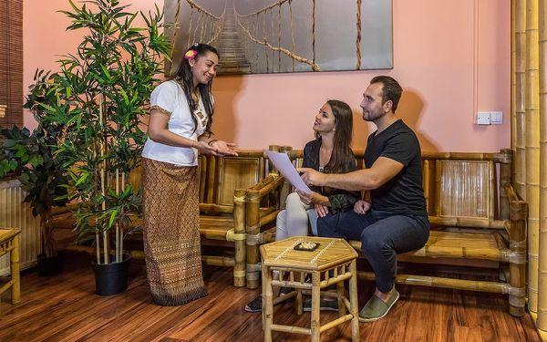 Thajská masáž a zábal dle výběru pro 2 osoby2