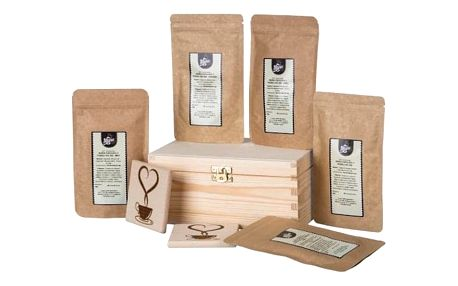Dárková krabička s horkou čokoládou: 5×50 g