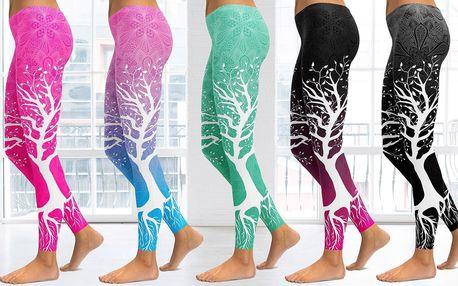 Sportovní legíny s potiskem stromu: 5 různých barev