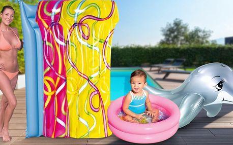 Hurá k vodě: nafukovačky, vesty i bazének