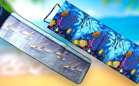 Skládací plážová lehátka na dovolenou: molitanové i alu