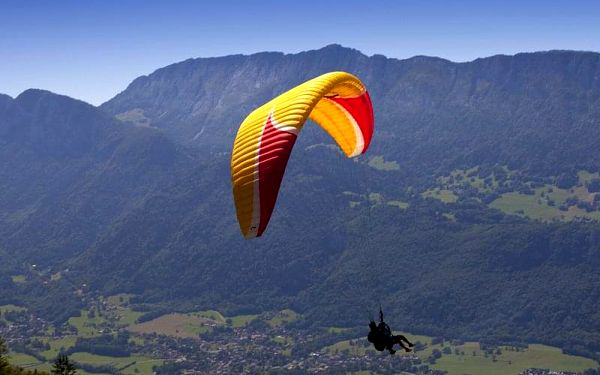 Tandem paragliding: Termický let