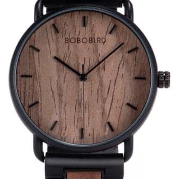 Dřevěné hodinky Bobo Bird - tmavé2
