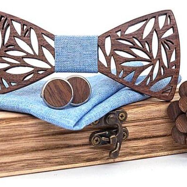 Dřevěný motýlek XV3