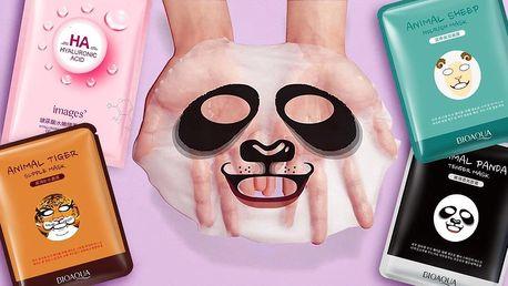 Pleťové masky: černá i se zvířecími obrázky