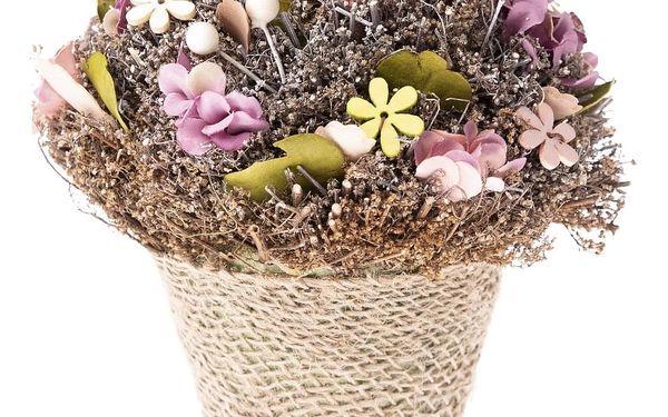 Květináč s umělými květinami Leerdam, 18 cm