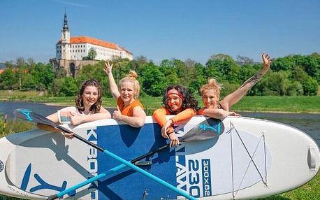 Zážitek v podobě jízdy na paddleboardu i koloběžce přes České Švýcarsko s instruktáží a průvodcem