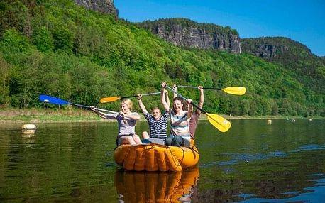 Zážitek: Plavba na raftu, kanoi či kajaku v přírodě Českého Švýcarska - včetně instruktáže a výběru z 5 tras