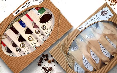 Dárkové sety v krásném balení: kávy i čokolády