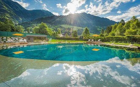 Vysoké Taury u termálů Bad Gastein stylově v Chalet Bellevue Alm s luxusním wellness, saunou a snídaní