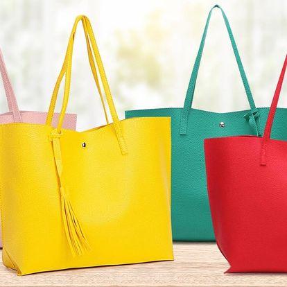 Prostorná kabelka: 8 barev či design krokodýlí kůže