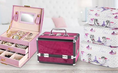 Šperkovnice i sady kufříků na všechny vaše poklady