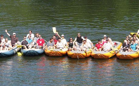 Půjčení kajaku, kanoe či raftu i výbavy na celý den