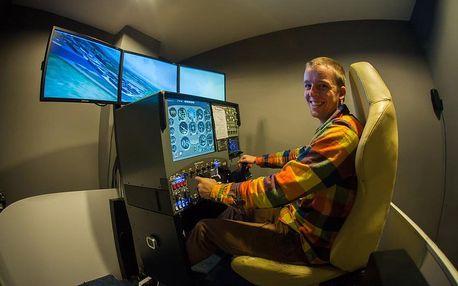 Pohyblivý trenažér malého sportovního letadla