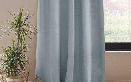 AmeliaHome Závěs Blackout EYELETS stříbrná, 140 x 245 cm