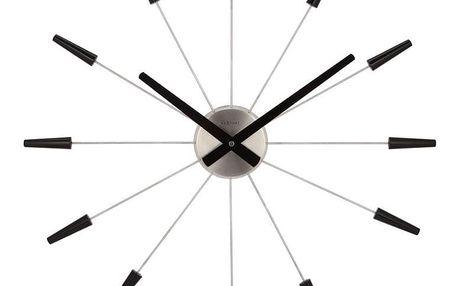 Nextime Plug Inn 2610zw nástěnné hodiny černá