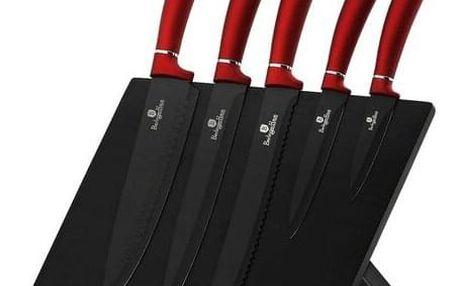 Berlinger Haus 6dílná sada nožů s magnetickým stojanem Burgundy Metallic Line