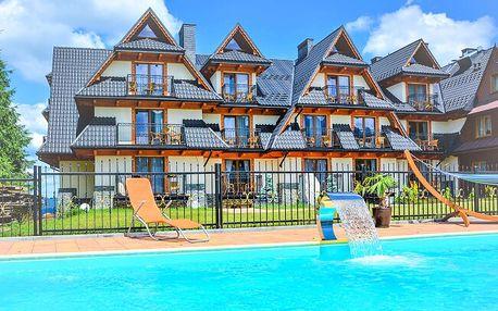 Polské Tatry poblíž termálních lázní ve Wille Grand Karpatia: stylové pokoje, polopenze, bazén a dítě zdarma
