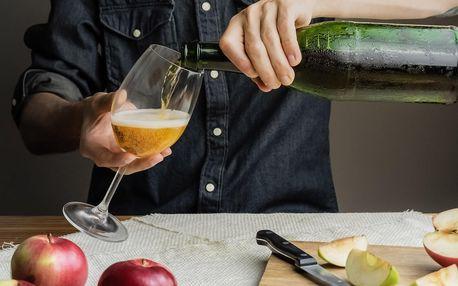 Ochutnávka ciderů a 3 lahve na doma pro 1–4 os.