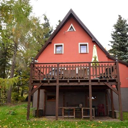 Ústecký kraj: Detached holiday home with large terrace, table tennis in the Erzgebirge Mountains