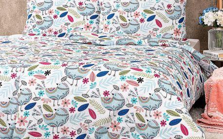 4Home Krepové povlečení Birds, 160 x 200 cm, 70 x 80 cm