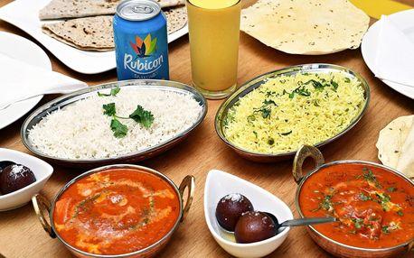 Indické menu i s nápojem pro 1 nebo 2 osoby