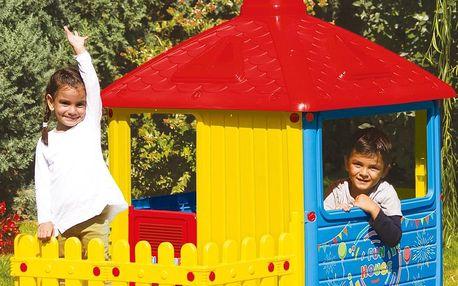 Dolu Velký zahradní domeček s plotem